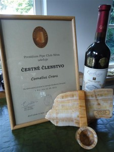 CIPC president honorary member of the PipeClubNitra